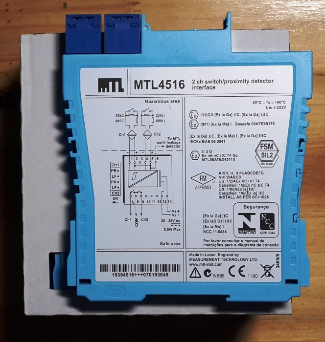 Hot Sell MTL4516 Barrier (2ch DI relay output) Original from UK