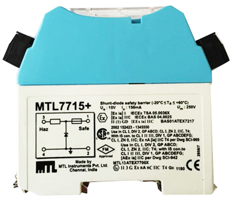 MTL7715+Shunt-diode safety barrier